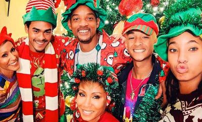 la familia de Will Smith en Navidades